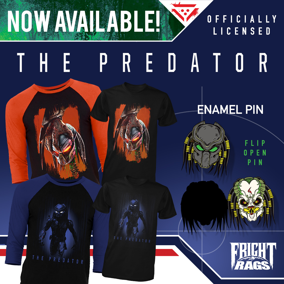 The Predator Official Merchandise Released By Fright-Rags